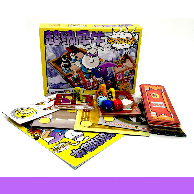 Funny Super Rhino Ultimate Battle Board Game Paper Cards Games For Party Family Indoor Game Children's Educational Toys