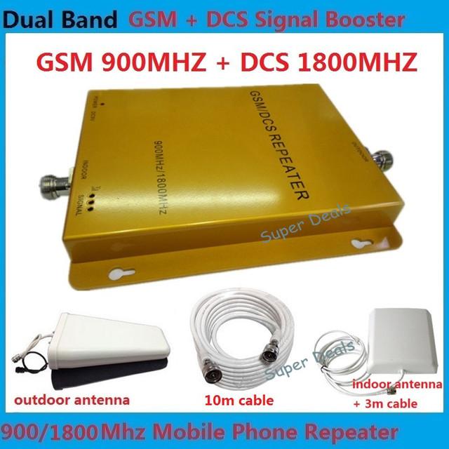 Lintratek! doble banda 900 1800 DCS Repetidor de Señal GSM amplificador de señal de alta ganancia gsm teléfono celular amplificador de señal de refuerzo repetidor