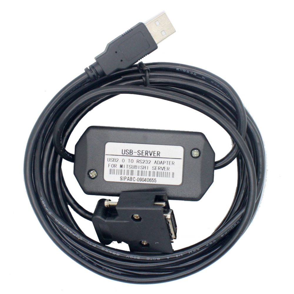 Free Shipping USB-MR-CPCATCB MR-J2S 3M Cable J2S Servo motor programmer cable, 3M free shopping usb mr e for mr e servo communication cable