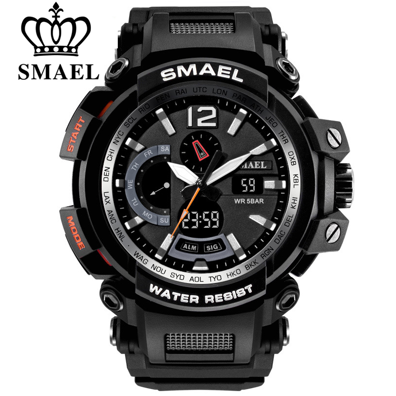 (VIP exklusive link) SMAEL Top Marke Luxus Männer Digital LED Military Analog Uhren Outdoor Sport Uhr 1702 1545