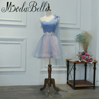 Modabelle One Shoulder Junior Prom Dresses Short Graduation Dress For Girls A Line Party Dress With