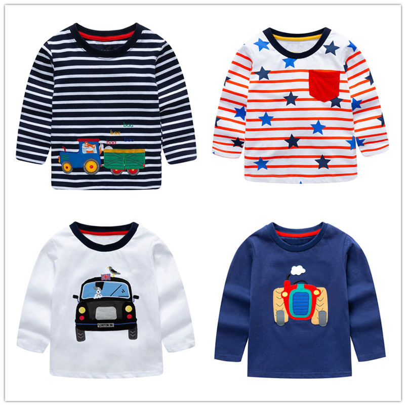 VIDMID baby Boys Tops 2018 Brand Children T shirts Boys Clothes Kids Tee Shirt Fille blouse jackets 100 Cotton Baby Boy Clothes