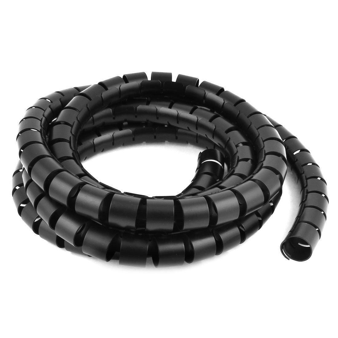 WSFS Hot Spiral Tube Cable Wire Wrap Computer Cord Management 30mmx3M Black