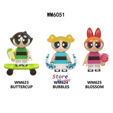 Single Building Blocks Cartoon Movie The Girls Anime Blossom Bubbles Buttercup Super Sonic Action toys for children(China)