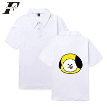 70d692b2f298 LUCKYFRIDAYF 2018 BTS Summer Cartoon Print polo femme Lovely Polo Shirt  Populer Cartoon Funny women polo