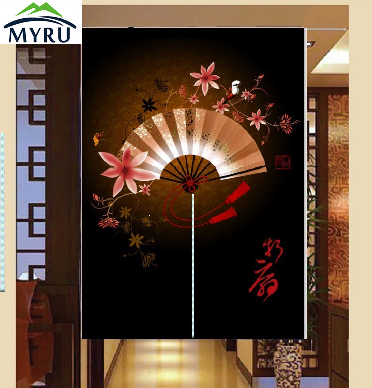 Thick Cotton Cloth Door Curtain Decorative Curtain