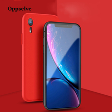 Oppselve Liquid Silicone Phone Case For iPhone Xs Max Xr X Luxury Microfiber Fashion Cover 8 7 6 S Plus Coque Capinha