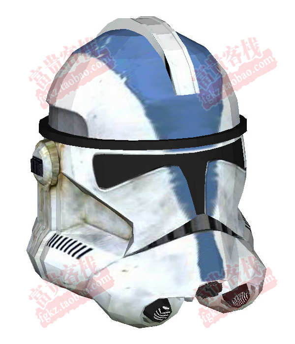 Paper Model Star Wars Clone Cavalry Helmet 1 1 Can Wearable Casual Puzzle Decoration DIY Handmade