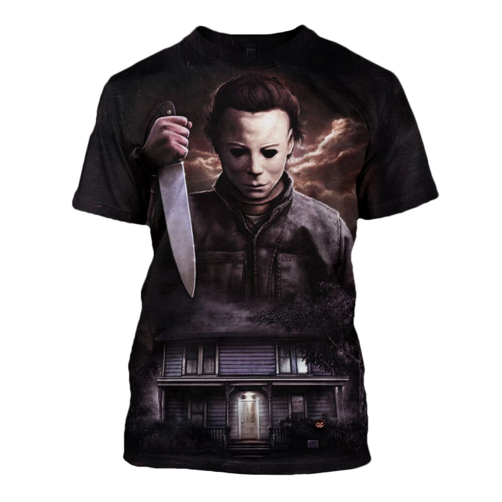 Halloween Michael Myers Cosplay Costumes 2019 Michael Myers T Shirt Scary Movie Horror 3D Printed Cool Tops christmas costume