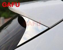 For Hyundai Tucson 2016 2017 Side Rear Window Spoiler Chrome Cover Trim Triangle Garnish Bezel Accessorie