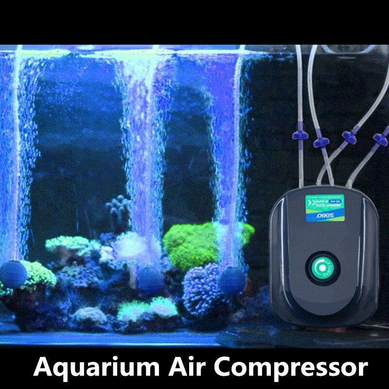 8 12w Silent Mini Aquarium Air Compressor Fish Tank
