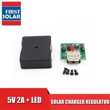 5V 2A Solar Panels Voltage charge Controller with LED Indicator USB  charger Regulator dc to dc Converter 6V 20V input 5Vdc