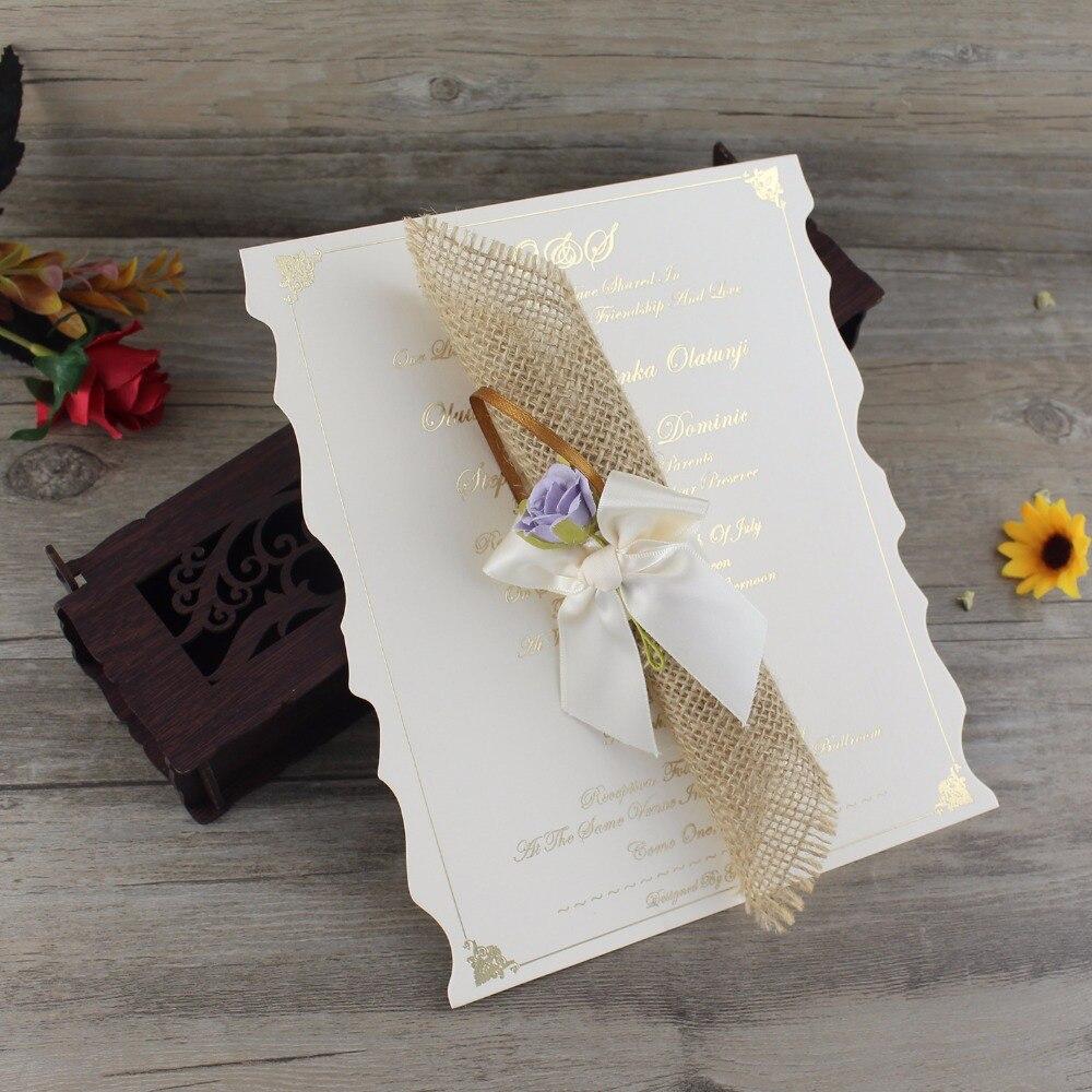100 Pcs Laser Cut Wedding Invitation Card Elegant,Custom Scroll ...