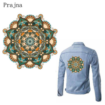Prajna Hippie bohemian patch Iron Stickers Fashion Heat Transfers DIY T-shirt jacket Grade-A Thermal Transfer Stickers