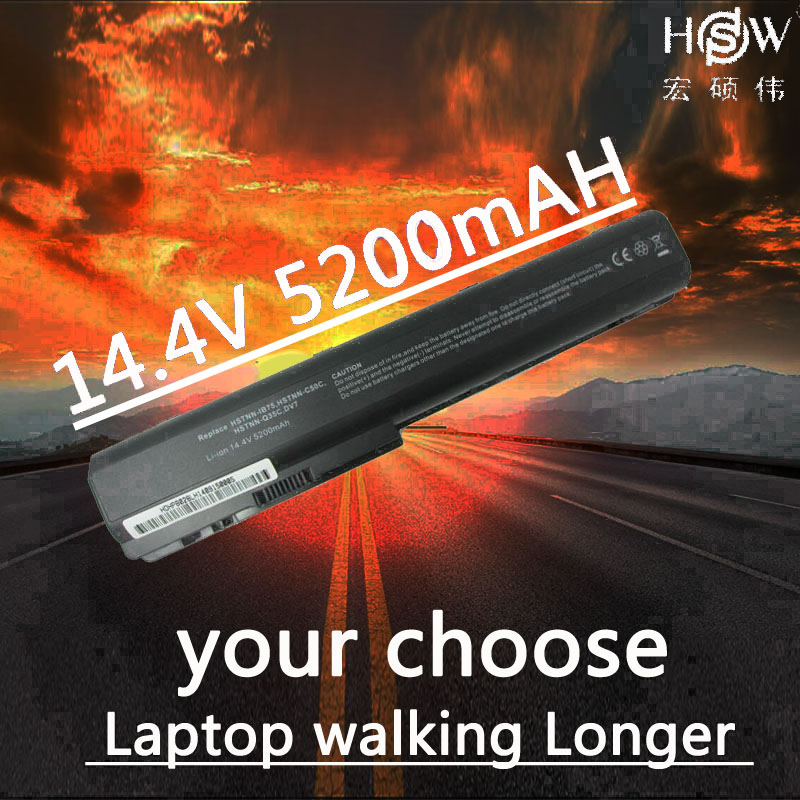HSW laptop battery for hp Pavilion DV7 DV7-1000 DV7-3000,Pavilion DV8 DV8-1000,FOR HP HDX18 HDX18-1000 HSTNN-C50C  bateria akku