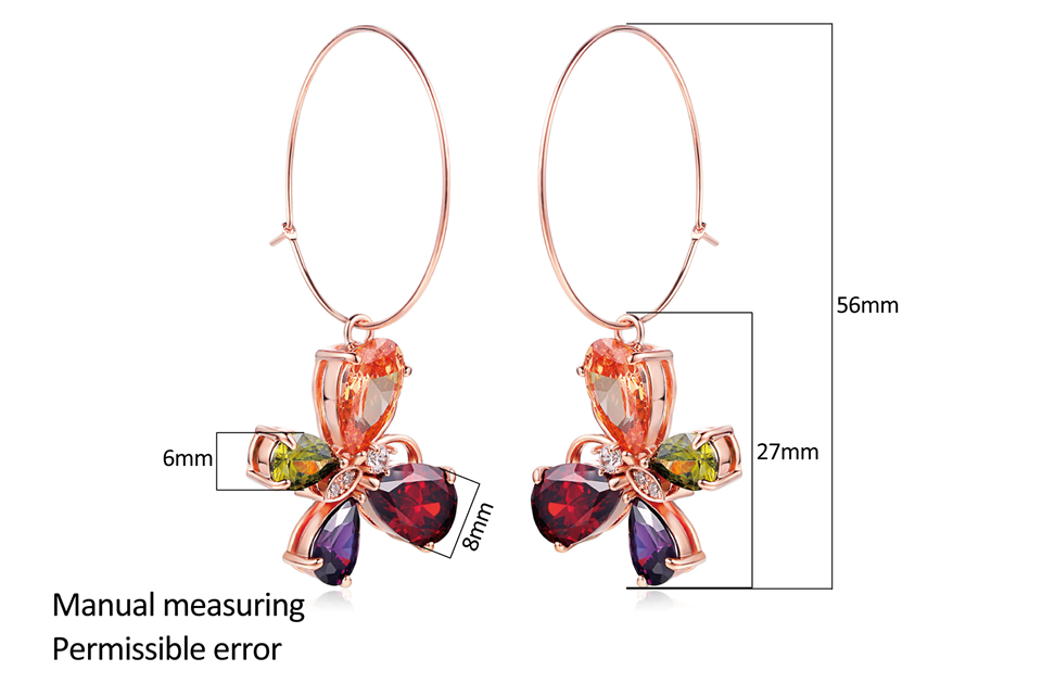 a PISSENLIT Clover Shape Drop Earrings Colorful Rhinestone Earrings Women Jewelry 2019 New Fashion Grace Summer Jewelry For Beach