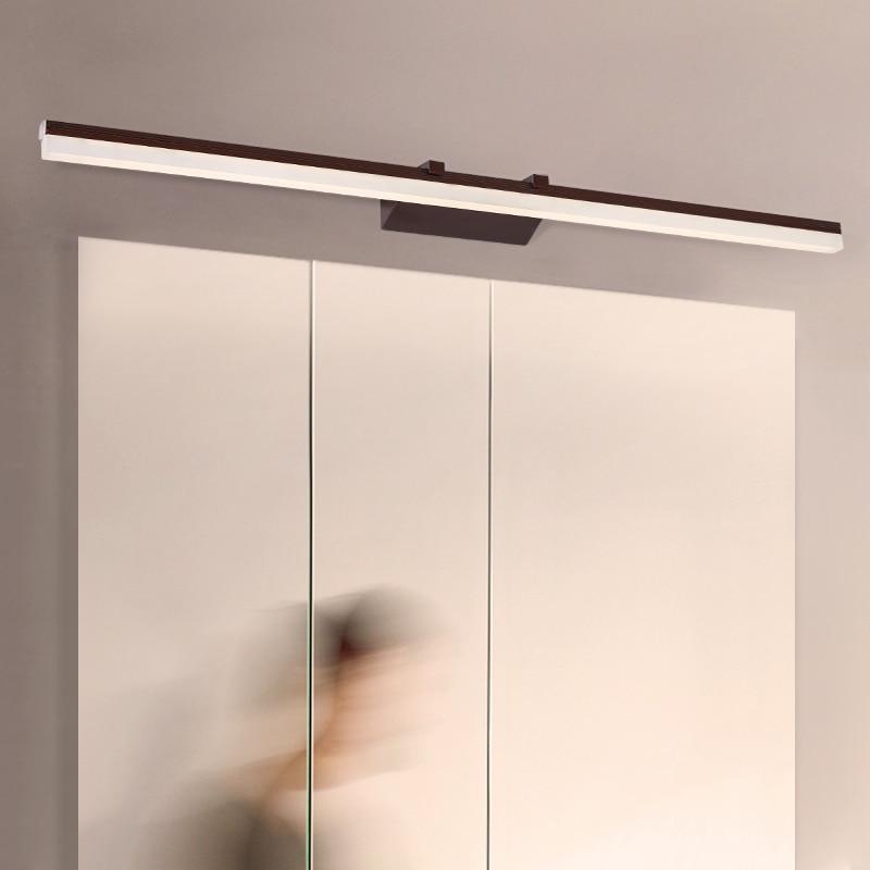 Brown white waterproof anti fog modern led mirror light bathroom light bathroom wall lamp Nordic mirror