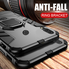 For huawei honor 10 lite case Armor Ring Magnetic Car Hold Shockproof Soft Bumpe