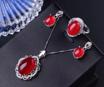 Natural crystal Topaz Ring Pendant Bracelet Earring inlaid pulp alive 925 silver jewelry four suit