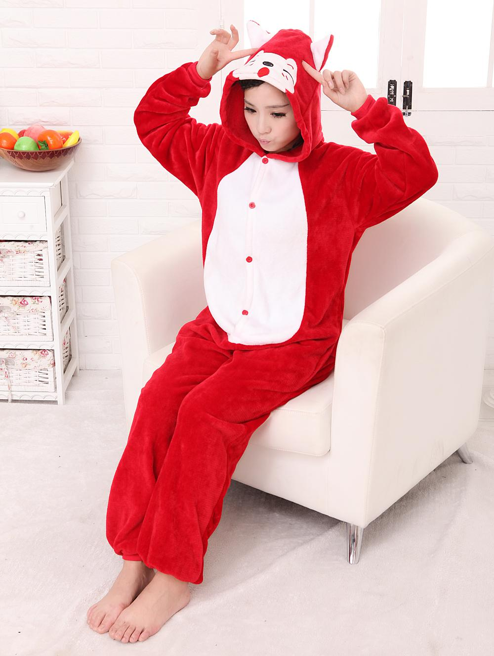 free pp Unisex Adult Flannel Fashion Women Pajamas Party Cosplay Animal Onesie Adult Pyjama Sets For Christmas Pikachu/Stitch