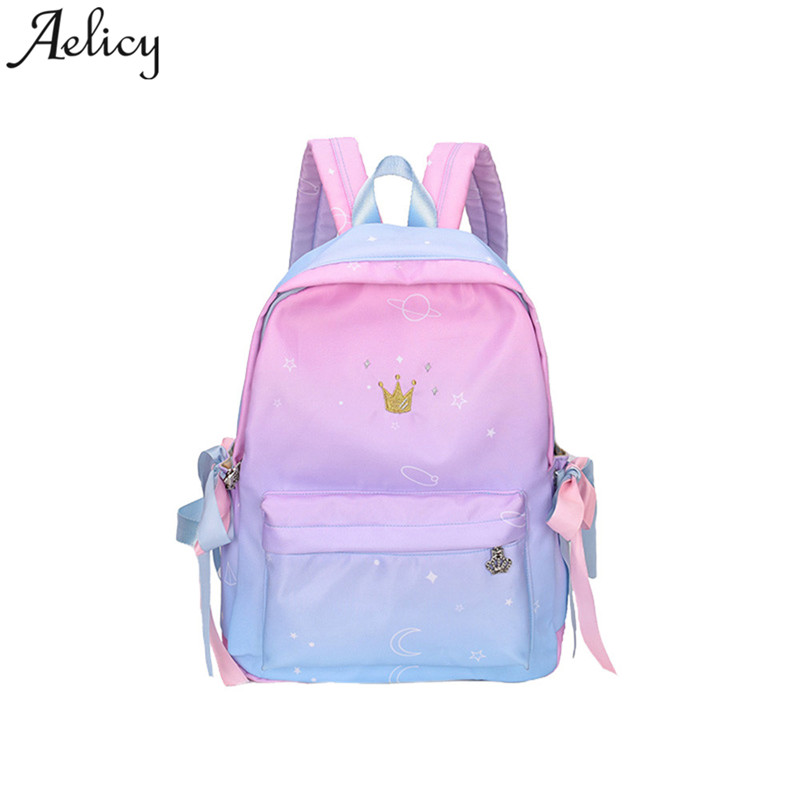9ddedc8366 Aelicy Girls Backpack Preppy Student Kids School Bag Travel Boys Backpack  Bag     bags
