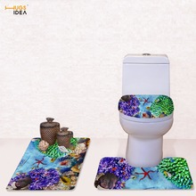 tropical fish toilet seat. HUGSIDEA Tropical Fish Printed Decorations Non Slip Toilet Seat Washroom  Rug Set WC Lids Buy fish toilet seats and get free shipping on AliExpress com