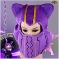 LOL Kennen Hat Mask costume hat cosplay purple plush Cotton hat mask Fall Winter unisex baggy warm ski skull cap bonnets
