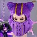 LOL Kennen Sombrero Máscara cosplay sombrero traje púrpura de la felpa de Algodón máscara sombrero de Otoño Invierno unisex baggy caliente ski skull cap capos