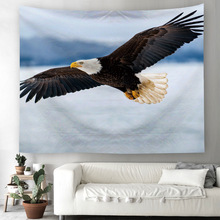 American Eagle Pattern Tapestry Wall Hanging for Decoration Beach Towel and Bedspread Accessories