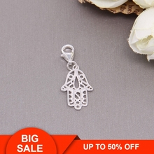 Hemiston 925 Sterling Silver Hand of  Fatima Charm for Bracelet Thomas Style Jewelry for Men and Women Party Gift TS-602 цена