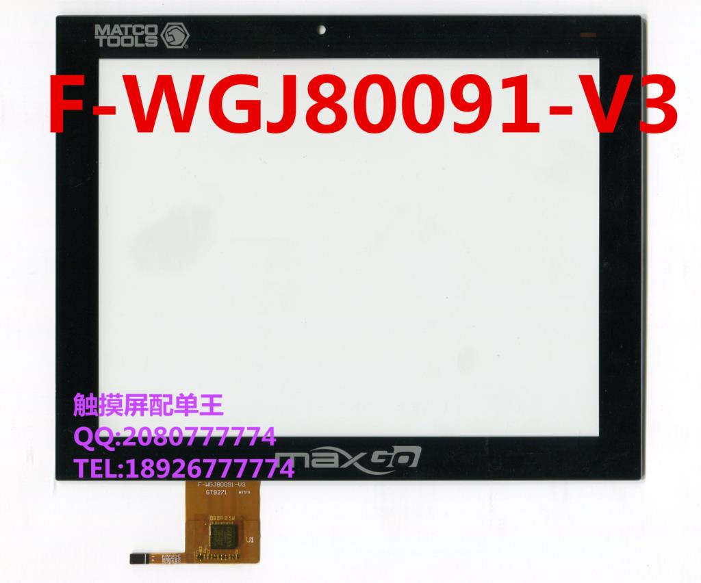 8 inch black in stock F-WGJ80091-V3 tablet pc touch screen panel Digitizer Glass sensor replacement F-WGJ80091 WGJ80091