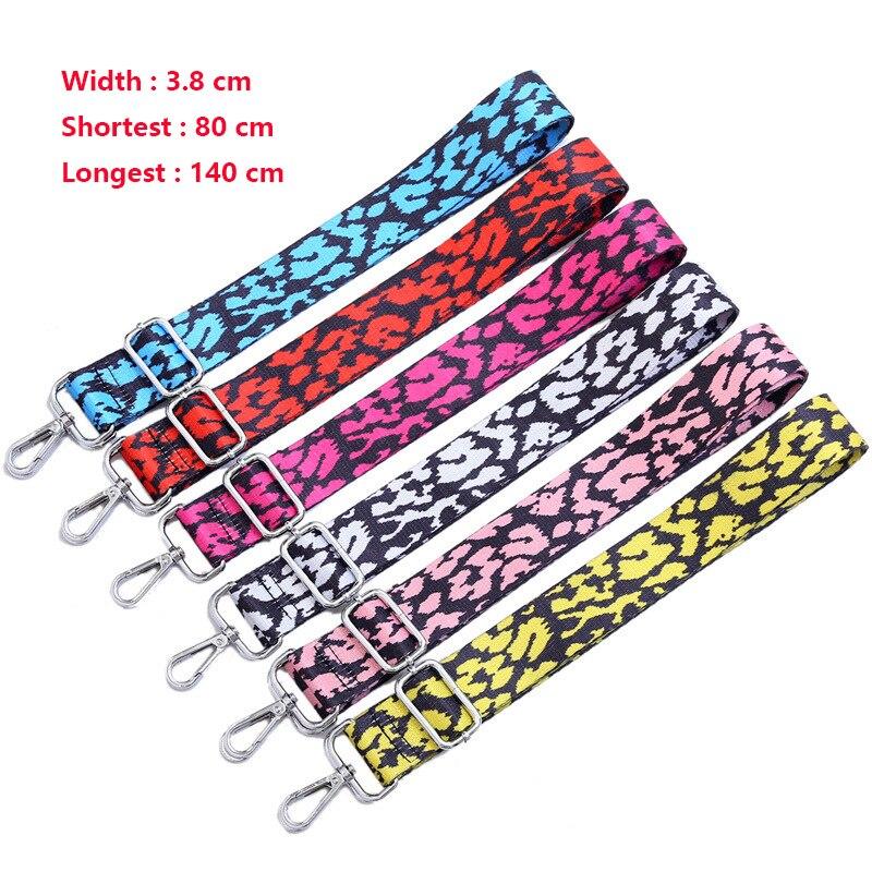 Colored Women Belt Bag Strap Nylon O Bag Accessories Rainbow Adjustable Shoulder Hanger Handbag Strap Decorative Handle Ornament