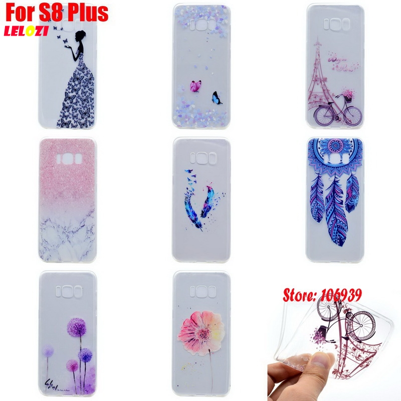 LELOZI Luxury TPU Clear Transparent Soft Silicone Silicon Capinha Etui Cover Case Cove For Samsung Galaxy S8 Plus S8Plus