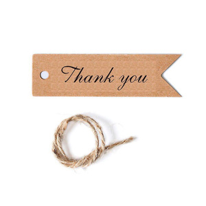100pcs thank you brown hang tags for DIY accessories for gift blank tag bookmarks gift thank you card hand made paper hang tags