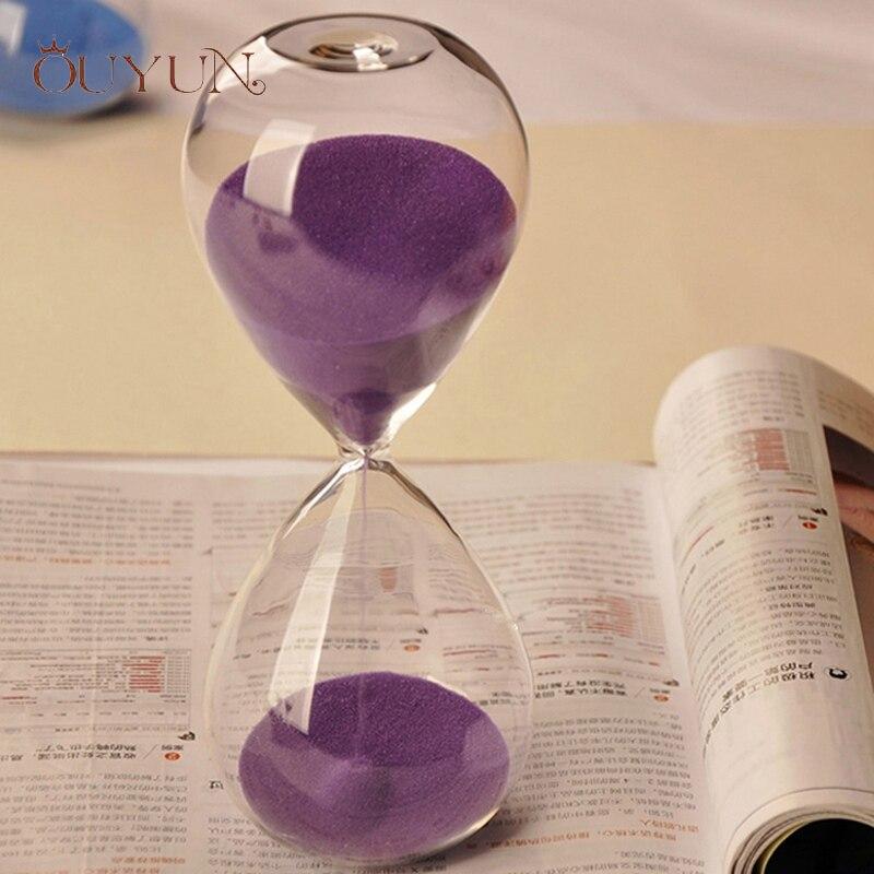 Ouyun 10 минут час Стекло счетчик времени количество Подпушка таймер творческий подарок на день рождения сюрпризов Стекло трубки и песок час С...