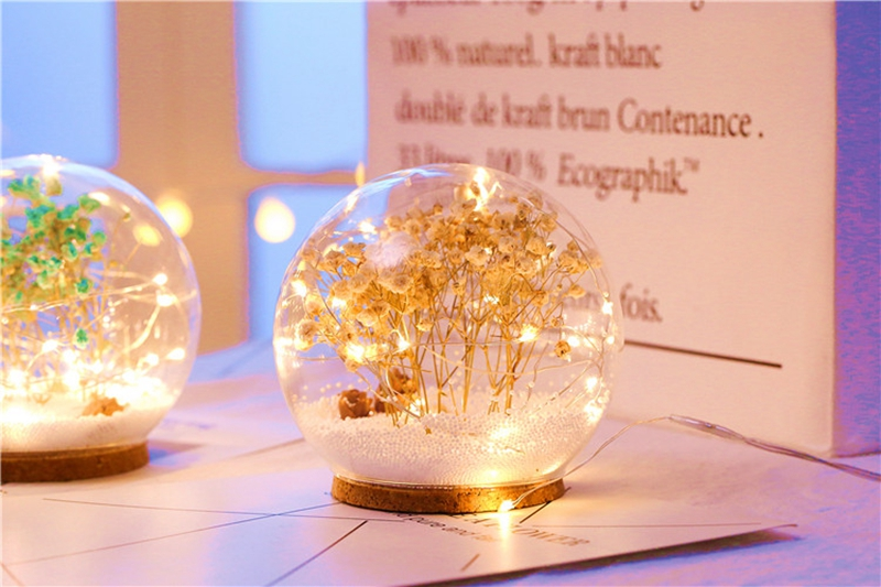 Creative LED Crystal Ball Design Table Lamp Room Decor Bedside Night Light For Girls Baby New Year Christmas Birthday Gift (18)