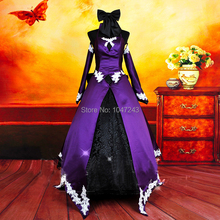 NEW Anime Fate/Zero Black Saber PURLE COLOR edged with lace women's dress cosplay costume Accept customized HIGH quality