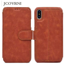 JCOVRNI Deluxe multi-functional stand for iphone 6 6plus retro card leather leather case for iphone 8 8plus mobile wallet cover