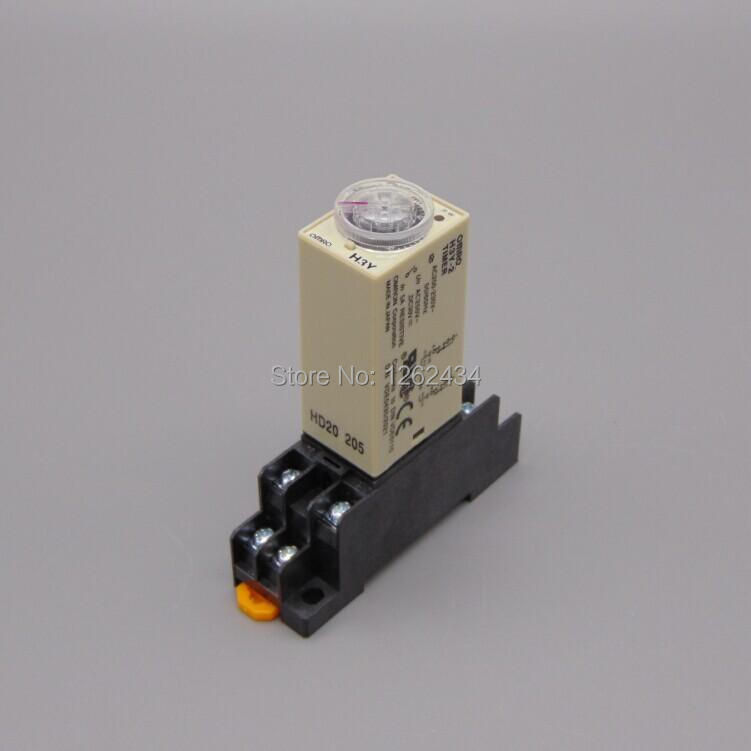 2.0-60S H3Y-2 Power On Time Delay Relay Solid-State Timer 12V/24/110V/220V Please tell us the voltage! 1 30min h3y 2 power on time delay relay solid state timer 30min 12v 24 110v 220v please tell us the voltage