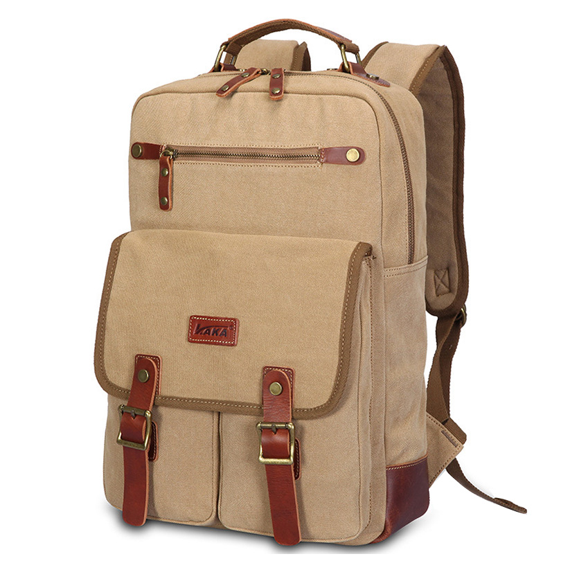 KAKA New Canvas Laptop Rucksack for Boys Men's Large Capacity Travel Backpack Male Casual High Quality Student Backpack kaka brand new unisex fashion school backpack for teenagers large capacity travel bags girls boys high quality laptop bags