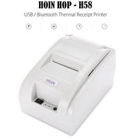 Original HOIN HOP H58 USB / Bluetooth /Wifi Thermal Cash Receipt Printer 90mm/s POS Printing Instrument Supports Android IOS OS
