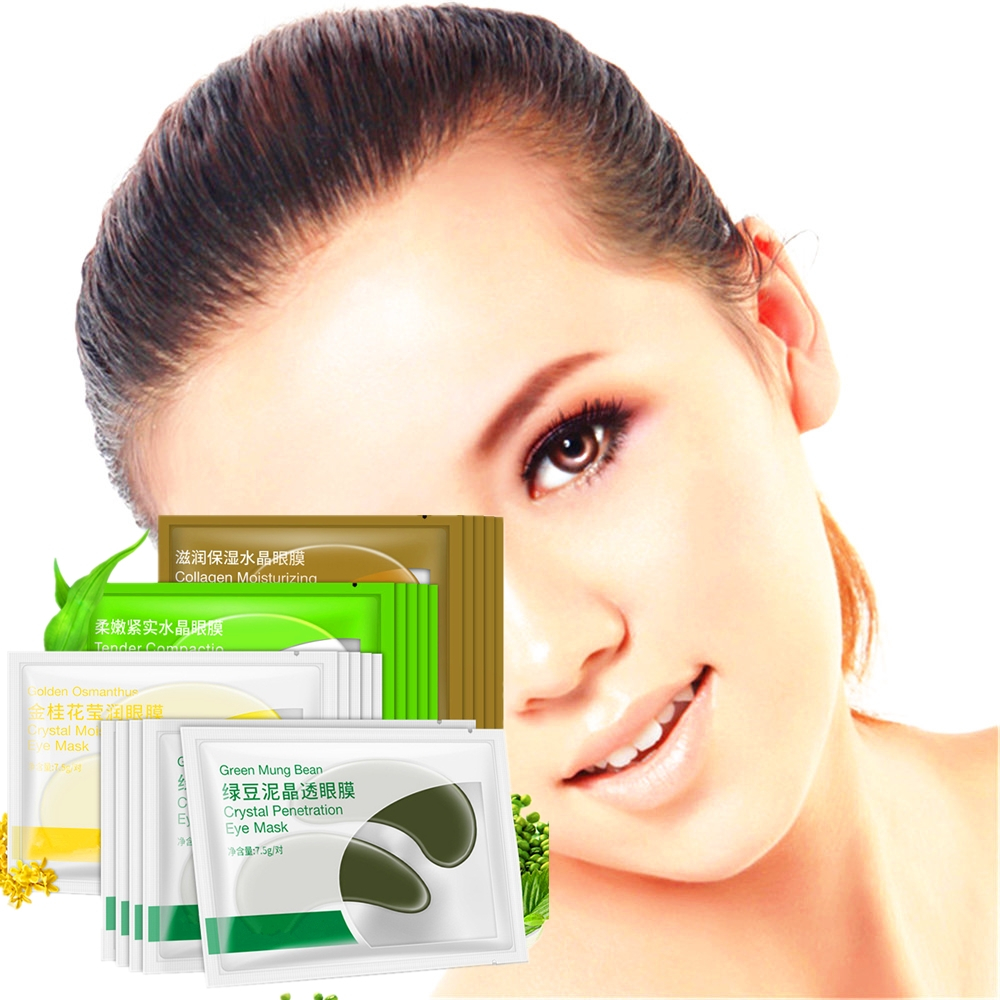 DISAAR 8pcs Crystal Collagen Eye Mask Gel Patches for Eyes Care Dark Circles