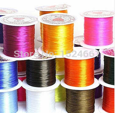 Bxd00084  wire 0.6mm Colorful Stretch Elastic Crystal Line Jewelry Making Beading