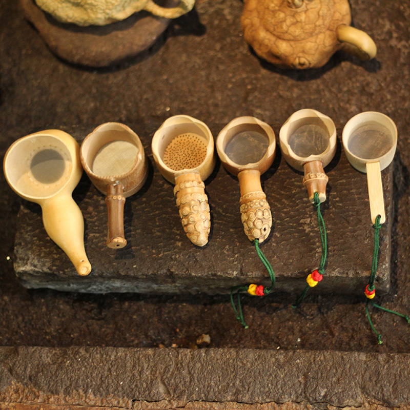Bamboo Tea Strainer Infuser Kitchen Filter Mesh Colander Hand Made Coador Novelty Creative Vintage Kung Fu Tea Tools Gadget Gift