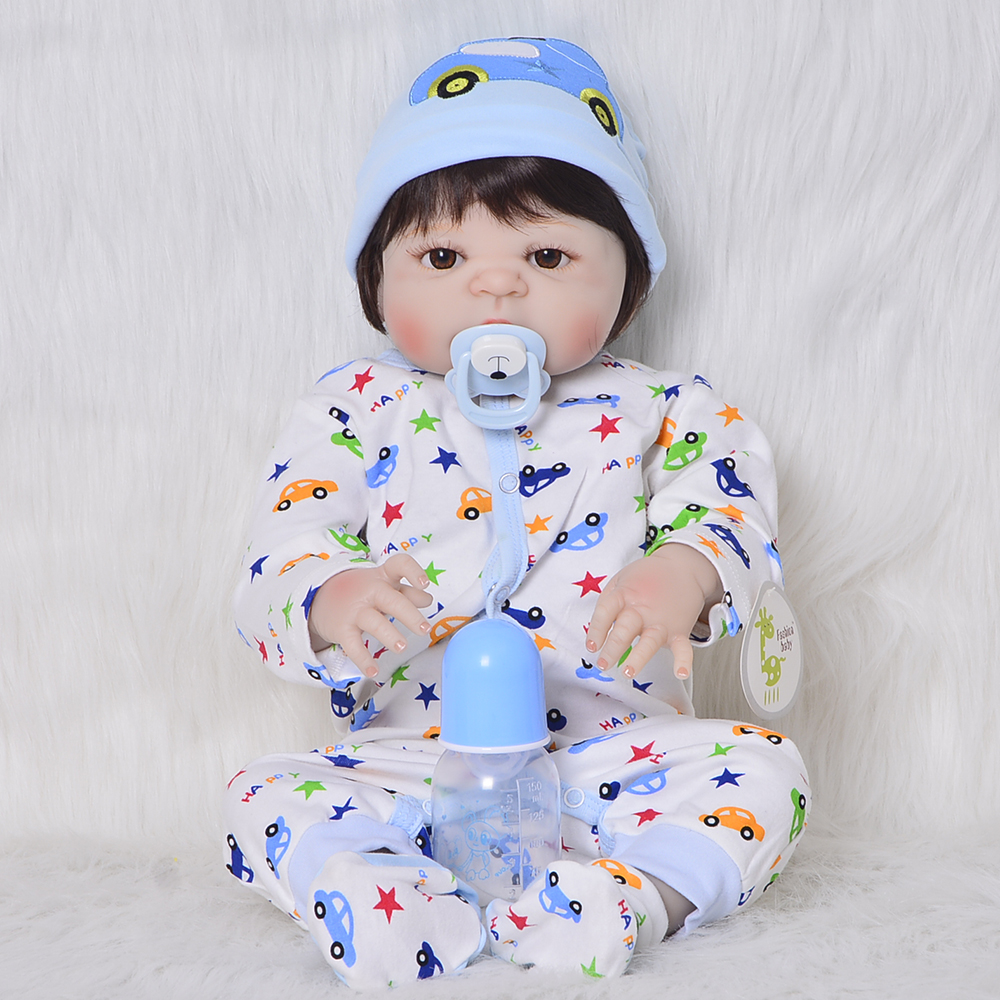 23 pouces Full Silicone 57 cm poupée Boneca De Mode Poupées bébé reborn bébé baignade jouet lol d'origine réel jouer maison bébés hotsale