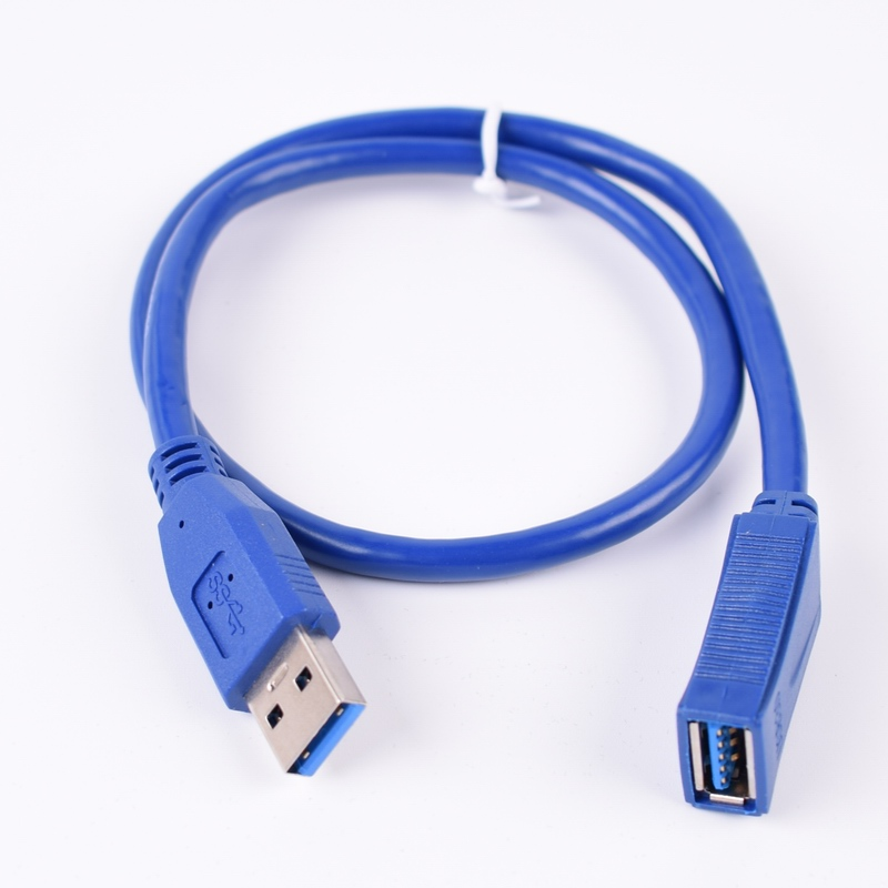 5FT//1.5M USB 2.0 A MALE TO MINI-B 5-PIN MALE Connector Cable PC Data Mac Blue
