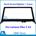 "14""For Lenovo Flex 2 14 20376 20404 Flex2 Tablet Front Outter Touch Screen Panel Digitizer Glass Lens Sensor Replacement + Frame"
