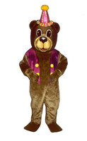 Happy Birthday Bear Adult Mascot Costume Cartoon Birthday Party Theme Anime Cosplay Mascotte carnival fancy dress fursuit Kits