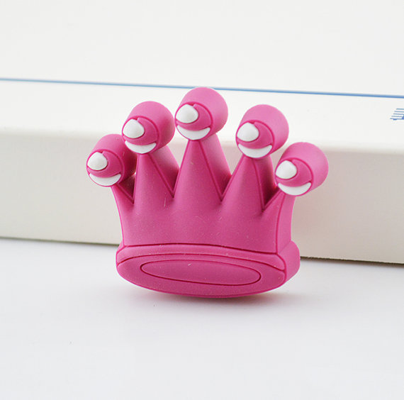 Kids Dresser Knobs Drawer Knobs Pulls Crown Pink White Cabinet Handles Pull Knob Baby Boys Girls Hardware In Cabinet Pulls From Home Improvement On