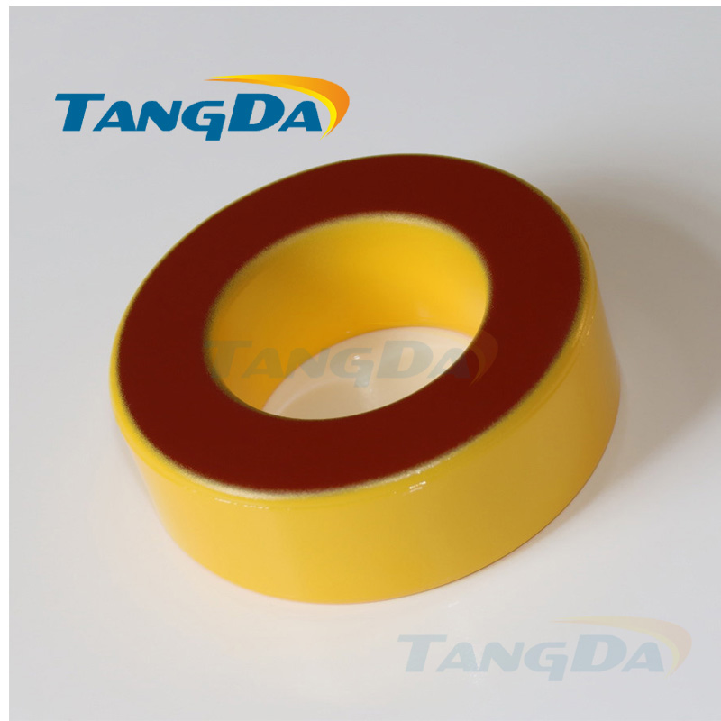 Tangda Iron powder cores T250-8 OD*ID*HT 64*31*26 mm 113nH/N2 35uo Iron dust core Ferrite Toroid Core toroidal yellow red tangda iron nickel cores 50 50%ni ch234060 smps rfi hi flux high flux core 23 4 14 4 8 9 60u